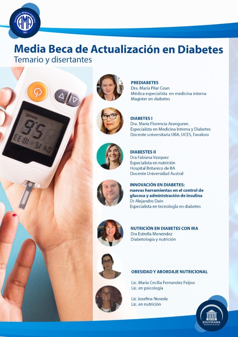 media beca en diabetes
